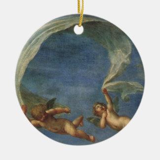 Engel führen von Adonis führten durch Amoren durch Keramik Ornament
