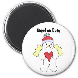 Engel im Dienst Runder Magnet 5,1 Cm