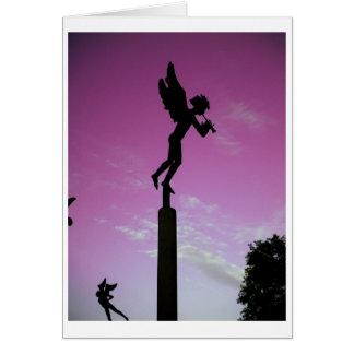 Engel im Lied Mitteilungskarte