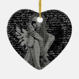 Engel Keramik Herz-Ornament