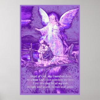 Engel, Kinder, Brücke, Gedicht Poster