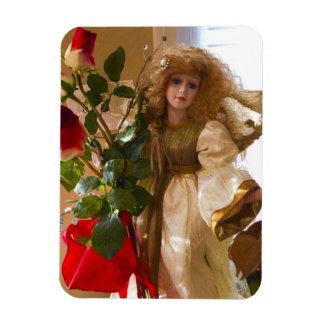 Engel mit Roten Rosen Magnet