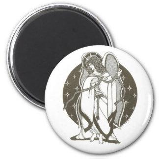 Engel mit Schärpemagneten Runder Magnet 5,1 Cm