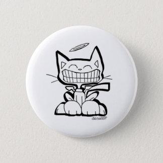 ENGELcat-Knopf durch Chris Desatoff 2-Inch Runder Button 5,1 Cm