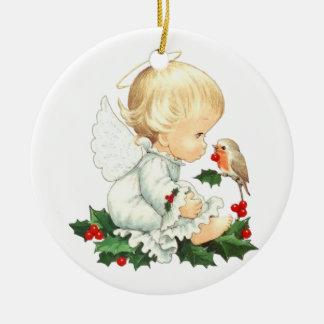 Engelchen-Weihnachtsverzierung Keramik Ornament
