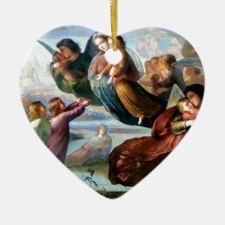 Engels-Christentums-Religions-Malerei Keramik Herz-Ornament