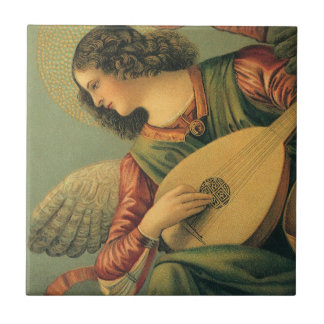 Engels-Musiker, Melozzo DA Forlì, Keramikfliese