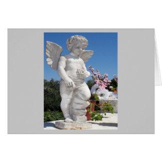 Engels-Statue im Grau