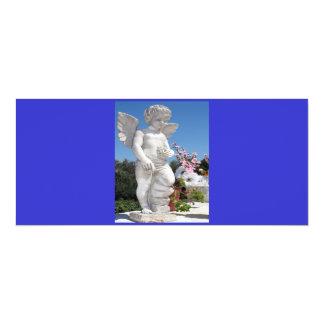 Engels-Statue in blauem und grauem V 10,2 X 23,5 Cm Einladungskarte