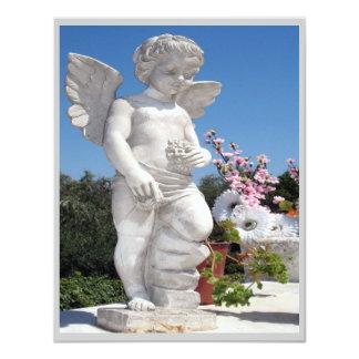 Engels-Statue in Grauem und in Weiß III 10,8 X 14 Cm Einladungskarte