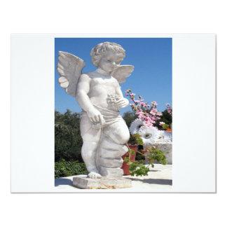 Engels-Statue in Weiß II 10,8 X 14 Cm Einladungskarte