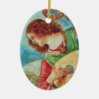 Engels-Verzierung Ovales Keramik Ornament