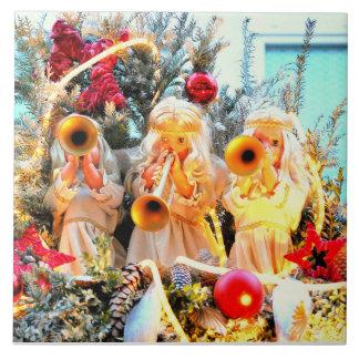 Engelstrompeten der frohen Weihnachten Große Quadratische Fliese