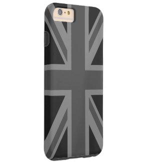 England-Flaggen-Schwarz-Grau Tough iPhone 6 Plus Hülle