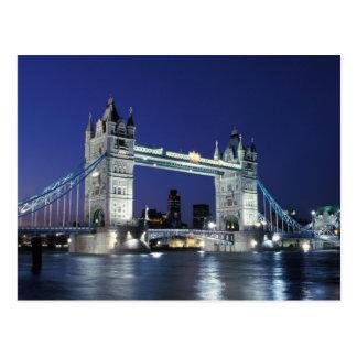 England, London, Turm-Brücke 3 Postkarte