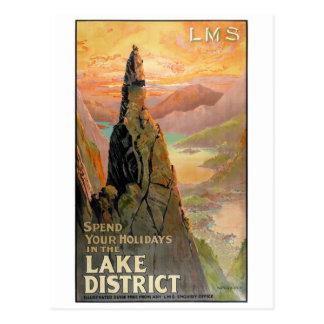 England See-Bezirks-Vintages Reise-Plakat Postkarte