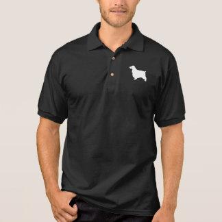 Englische Cockerspaniel-Silhouette Poloshirt