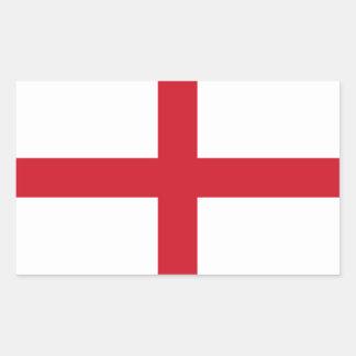 Englische Flagge Rechteckiger Aufkleber