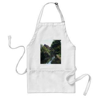 Englische Fluss-Szene Schürze