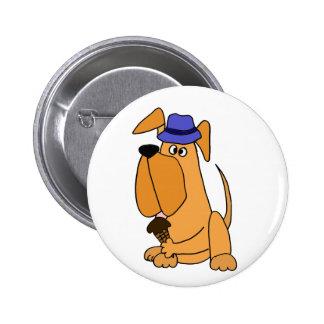 Englischer Mastiff-Hund, der Eiscreme-Kegel-Cartoo Runder Button 5,7 Cm