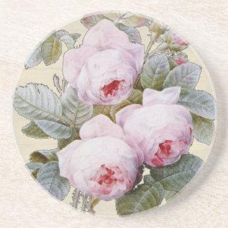 Englischer Rosen-Garten-Bourbon-rosa Blumen Untersetzer