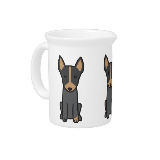 Englischer Spielzeug-Terrier-HundeCartoon Getränke Krug