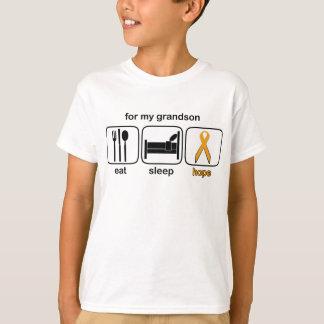 Enkel essen Schlaf-Hoffnung - Leukämie T-Shirt