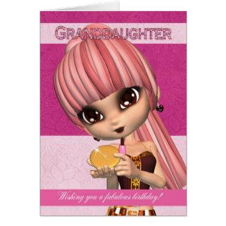 Enkelin-modische Geburtstags-Mädchen-Gruß-Karte Grußkarte