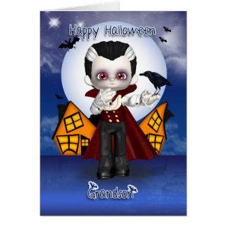 Enkelspaß-Vampirshalloween-Grußkarte Karte