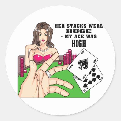 Enorme Poker-Stapel Runder Aufkleber