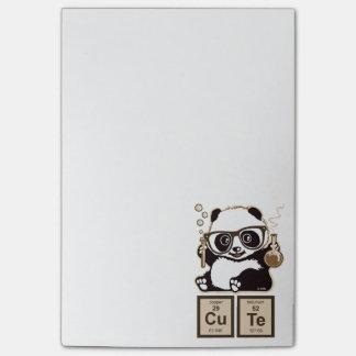 Entdecktes niedliches der Chemie Panda Post-it Klebezettel