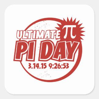 Entscheidender PU-Tag Quadratischer Aufkleber