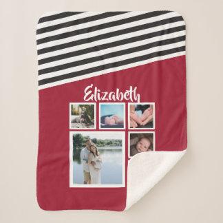 Entwerfen Sie Ihr eigenes personalisiertes Rot Sherpadecke