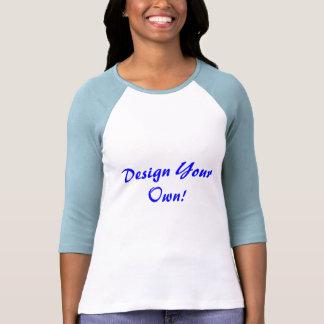 Entwerfen Sie Ihr eigenes Weiß und Baby-Blau Shirts