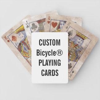 Entwerfen Sie Ihre eigenen kundenspezifischen Bicycle Spielkarten