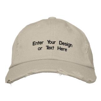 Entwerfen Sie Ihren gestickten Hut Besticktes Baseballcap