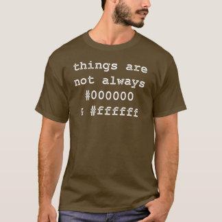 Entwickler-Programmierer-Schwarzes u. Weiß T-Shirt