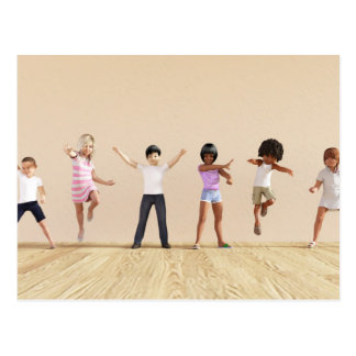 Entwicklung des Kindes mit dem Kinderlernen Postkarte