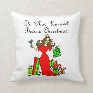Entwirren Sie nicht sich vor Weihnachten Kissen