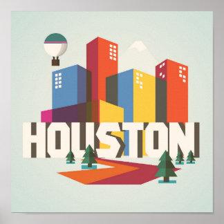 Entwurf Houstons, Stadtbild Texas   Poster