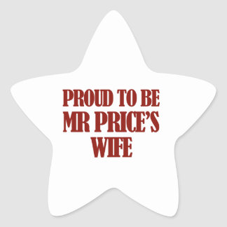 Entwürfe Frau Price Stern Aufkleber