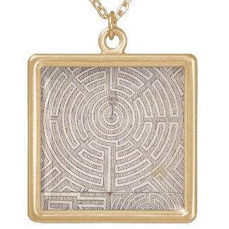 """Entwürfe für Labyrinthe, """"vom niederländischen Gär Halskette Mit Quadratischem Anhänger"""
