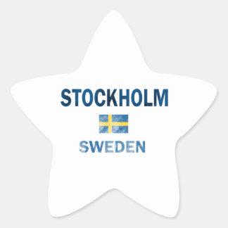 Entwürfe Stockholms Schweden Stern-Aufkleber