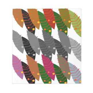 Entwurfs-exotisches Blätter Notizblock