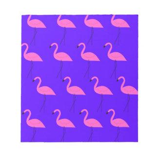 Entwurfs-Flamingos exotisch auf blauer Sammlung Notizblock