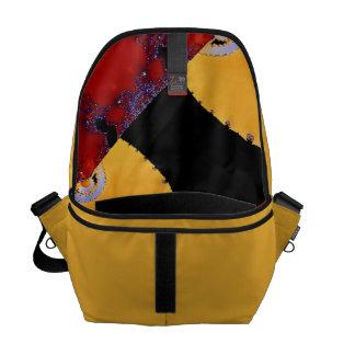 Entwurfs-Patchwork-Gelb-Entwurfs-Bote-Tasche Kurier Taschen