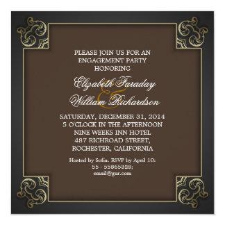 Entwurfs-Verlobungs-Party Einladungen des Chic