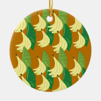 Entwurfsbananengold auf choco keramik ornament