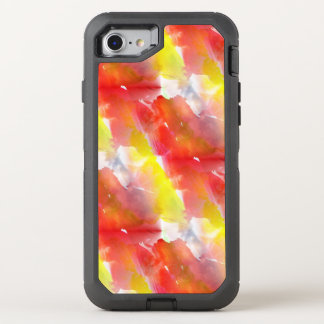 Entwurfsbeschaffenheits-Aquarellhintergrund OtterBox Defender iPhone 7 Hülle