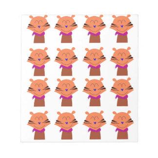 Entwurfselemente Fuchs-Kinderausgabe Notizblock